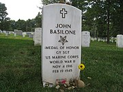 John Basilone headstone Arlington National Cemetery section 12 site 384