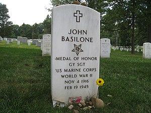 John Basilone - John Basilone's headstone in Arlington National Cemetery