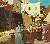 John Gleich - Scenery at a North African Bazaar