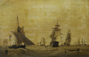 John Ward of Hull - H.M.S. 'Britannia' amidst other ships of the fleet at Spithead.jpg