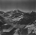 Johns Hopkins Glacier, tidewater glacier and hanging glaciers, August 26, 1979 (GLACIERS 5525).jpg