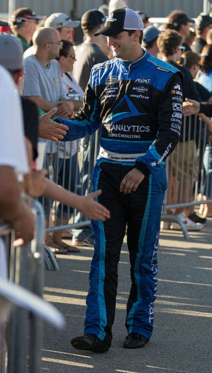 Jordan Anderson (racing driver) - Anderson greeting fans at Iowa Speedway