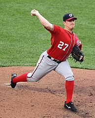 Jordan Zimermann jako zawodnik Washington Nationals.