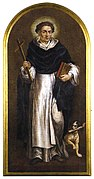 Saint Dominic with dog and torch
