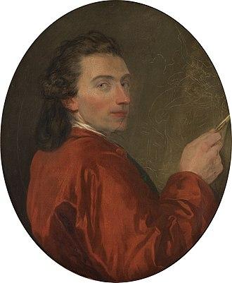 Joseph-Benoît Suvée - Image: Joseph Benoît Suvée Zelfportret (1771)