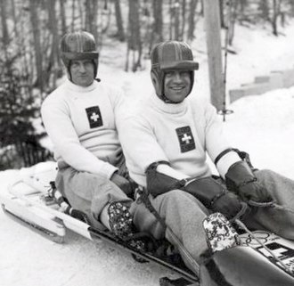 Fritz Feierabend - Joseph Beerli and Fritz Feierabend (right) at the 1936 Olympics