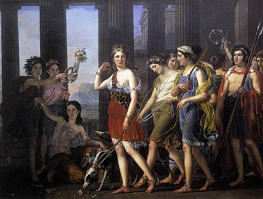 Joseph Paelinck - The Fair Anthia Leading her Companions to the Temple of Diana in Ephesus - WGA16853