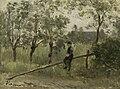 Jozef Israëls - Boerenjongen op een slagboom.jpg