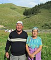 Jumamudun Kadyrmambetov with his spouse, Maken Chuitukeeva. 09.8.2009.jpg