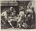 Jupiter en Mercurius in het huis van Philemon en Baucis, RP-P-OB-67.822.jpg
