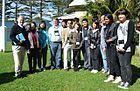 Photo of Justice Michael Kirby, Assoc. Prof. Thomas Faunce, Prof. Peidong Yang and students from James Ruse Agricultural High School