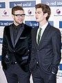 Justin Timberlake - Andrew Garfield - La red social - Madrid.jpg