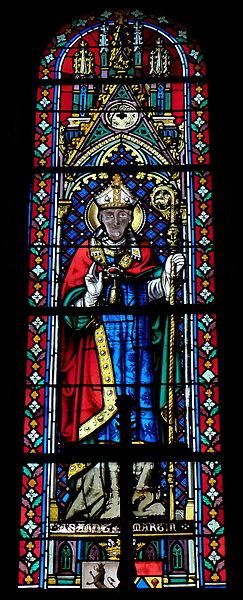 Vitrail de l'église Saint-Martin de Juvigné (53). Saint-Martin.