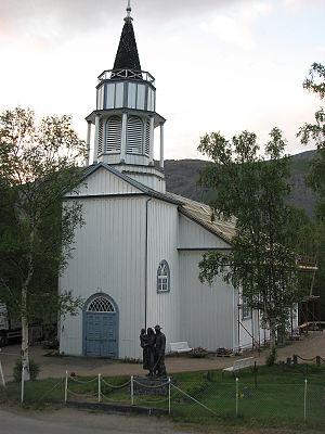Kåfjord Church (Finnmark) - Image: Kafjord church Alta 1