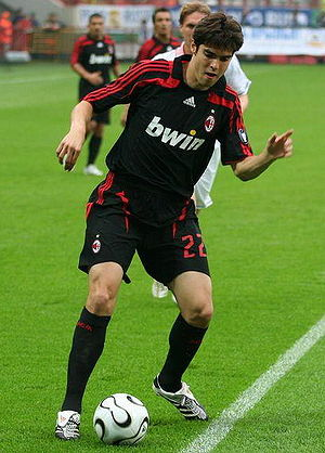 Kaká - Kaká playing in Moscow with A.C. Milan