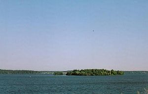 Kalyazinsky District - The island in the Uglich Reservoir where the Makaryev Monastery was previously located.