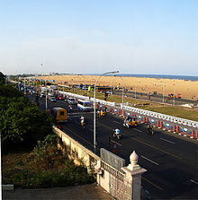 Kamarajar Salai and Marina Beach.jpg