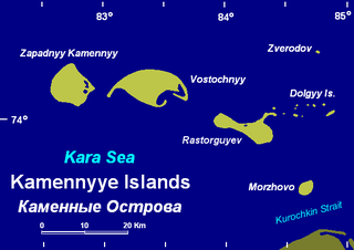 island in the Kara Sea, Russia