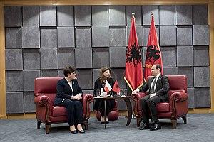 Bujar Nishani - Image: Kancelaria Premiera Follow Wizyta premier Beaty Szydło w Albanii