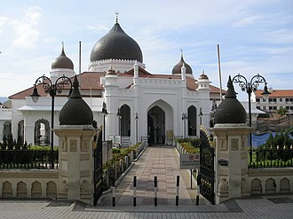 Penang - Kapitan Keling Mosque, one of the oldest mosques in George Town, built in 1801.