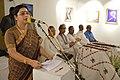 Karabi Ganguly Anchoring - Biswatosh Sengupta Solo Exhibition Inauguration - Kolkata 2015-07-28 3191.JPG