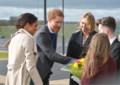 Karen Bradley MP welcomes Prince Harry and Ms. Markle as they embark on their first visit to Northern Ireland as a couple. (40927368362).png