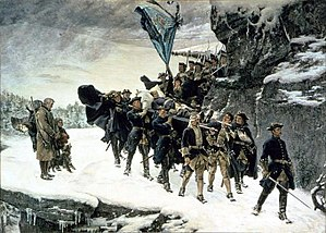 Norway during the Great Northern War - Bringing Home the Body of King Karl XII of Sweden (Gustaf Cederström. 1884)