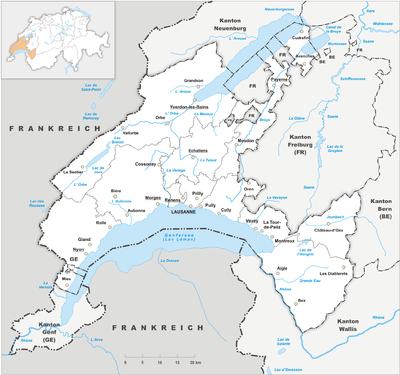 Map of Vaud