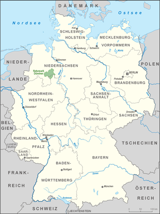 Dümmer Nature Park - Location of the nature park within Germany