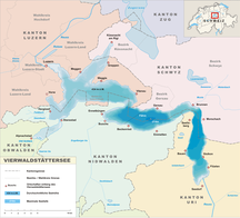 Canton of Uri-Early history-Karte Vierwaldstättersee