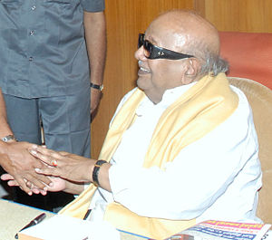 English: K. Karunanidhi, Chief Minister of Tam...