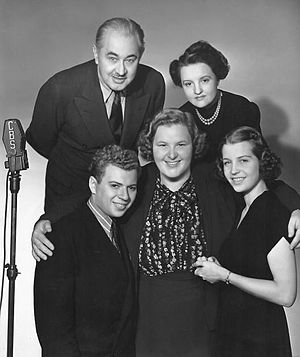 Kate Smith - The Aldriches and Kate Smith as the characters premiered on her radio program in September 1938.