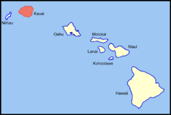 Location in the state of Hawaii