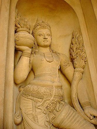 Kelaniya - Sculpture of Kelaniya Temple.