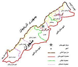 Khoda Afarin County - Image: Khoda Afarin Map