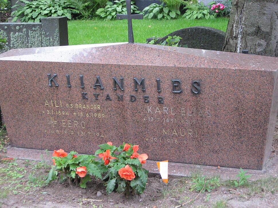 Kiianmies Kyander graves Tampere 20090818
