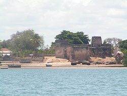 Fort on the banks of Kilwa Kisiwani
