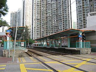 Kin Sang stop MTR Light Rail stop