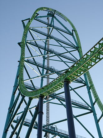 Strata coaster: The tallest coaster in the world, the 456-foot tall (139 m) Kingda Ka at Six Flags Great Adventure. Kingda Ka tower.jpg