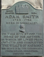 Kirkcaldy High Street Adam Smith Plaque.png