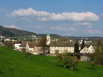 Fahr Monastery - Fahr Monastery as seen from the west, Unterengstringen in the background
