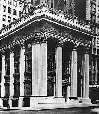 Charles T. Barney - The headquarters of the Knickerbocker Trust Company in 1905, at the corner of 5th Avenue and 34th Street