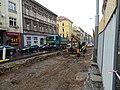 Košíře, Plzeňská, rekonstrukce TT, mezi Brožíkovou a Erbenovou.jpg