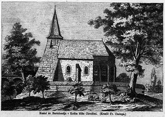Kočí (Chrudim District) - Saint Bartholomew's church in Kočí (1869)