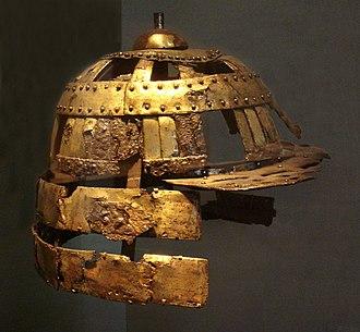 Samurai - Kofun Helmet Gilt Copper 5th century, Ise Province