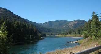 Kootenay River - the Kootenay (Kootenai) River downstream from Libby Dam in Montana