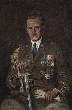 Marian Zyndram-Kościałkowski - Portrait of Marian Zyndram-Kościałkowski by Józef Blicharski (1933)