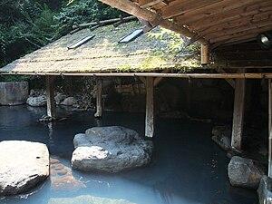 English: Kurokawa onsen rotenburo in Kyushu, J...