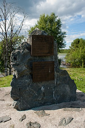 Kuusamo - Memorial to civilians killed in the Second World War