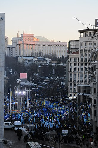 2014 pro-Russian unrest in Ukraine - Anti-Maidan in Kiev, 14 December 2013